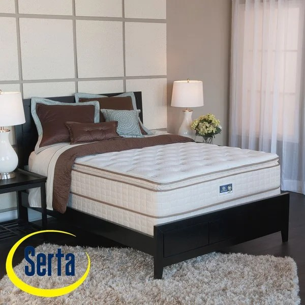 Serta Bristol Way Pillow Top King Size Mattress And Box Spring Set