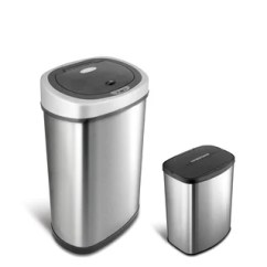Kitchen Trash Hotel With New York Buy Cans Online At Overstock Com Our Best Motion Sensor Stainless Steel 2 In 1 Combo Bathroom Can Set