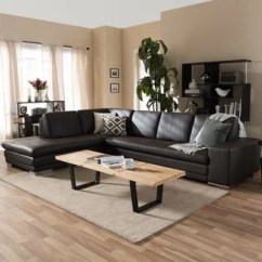 Mirrored Living Room Large Red Rugs Furniture Find Great Deals Shopping Larry Dark Brown Leather Reverse Sectional Sofa Chaise Set