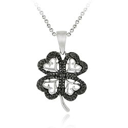 Shop DB Designs Sterling Silver Black Diamond Accent Four