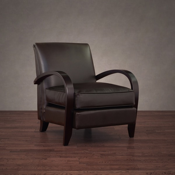 dark brown leather chair folding legs shop bloomington free shipping today