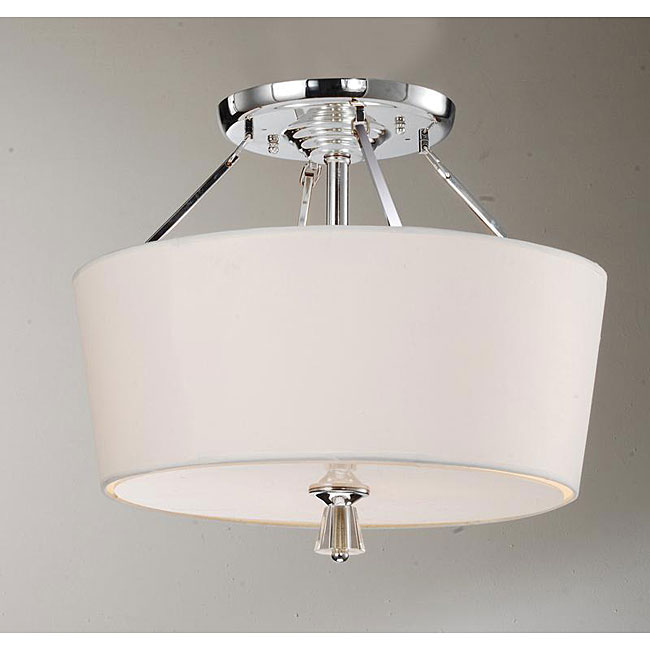 Crystal Finial Chrome Ceiling Lamp  Free Shipping On