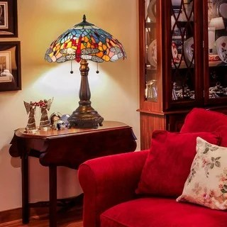 traditional lamps living room ideas for small houses buy table online at overstock com our best tiffany style red dragonfly lamp
