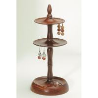 Handmade Wood Two-tier Earring Stand (India) - Free ...