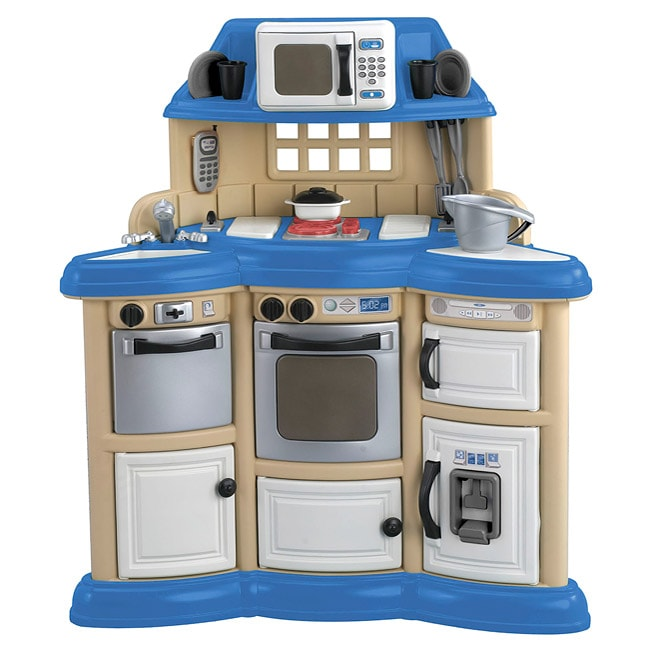 American Plastic Toys Cookin Kitchen Play Set Realistic Burners