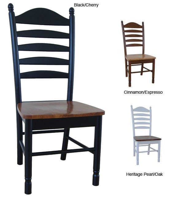 unfinished ladder back chairs hanging chair frame indoor solid wood tall ladderback (set of 2) - free shipping today overstock.com 12356979