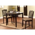 Square dining table and chairs set small space wood wooden 3 piece