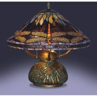 Tiffany-style Dragonfly Table Lamp with Mosaic Base ...