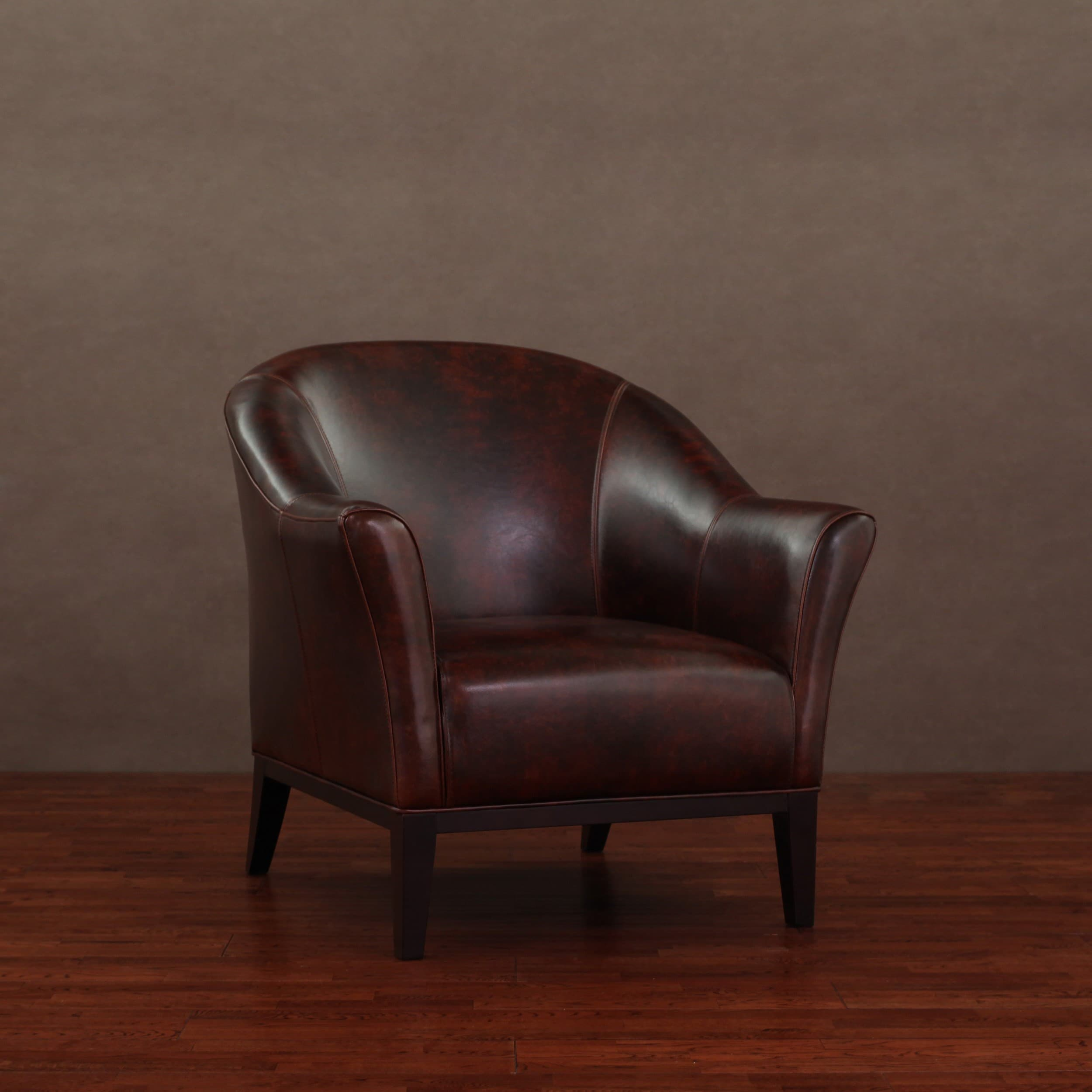 Overstock Chairs Tivoli Mahogany Leather Arm Chair Overstock Shopping