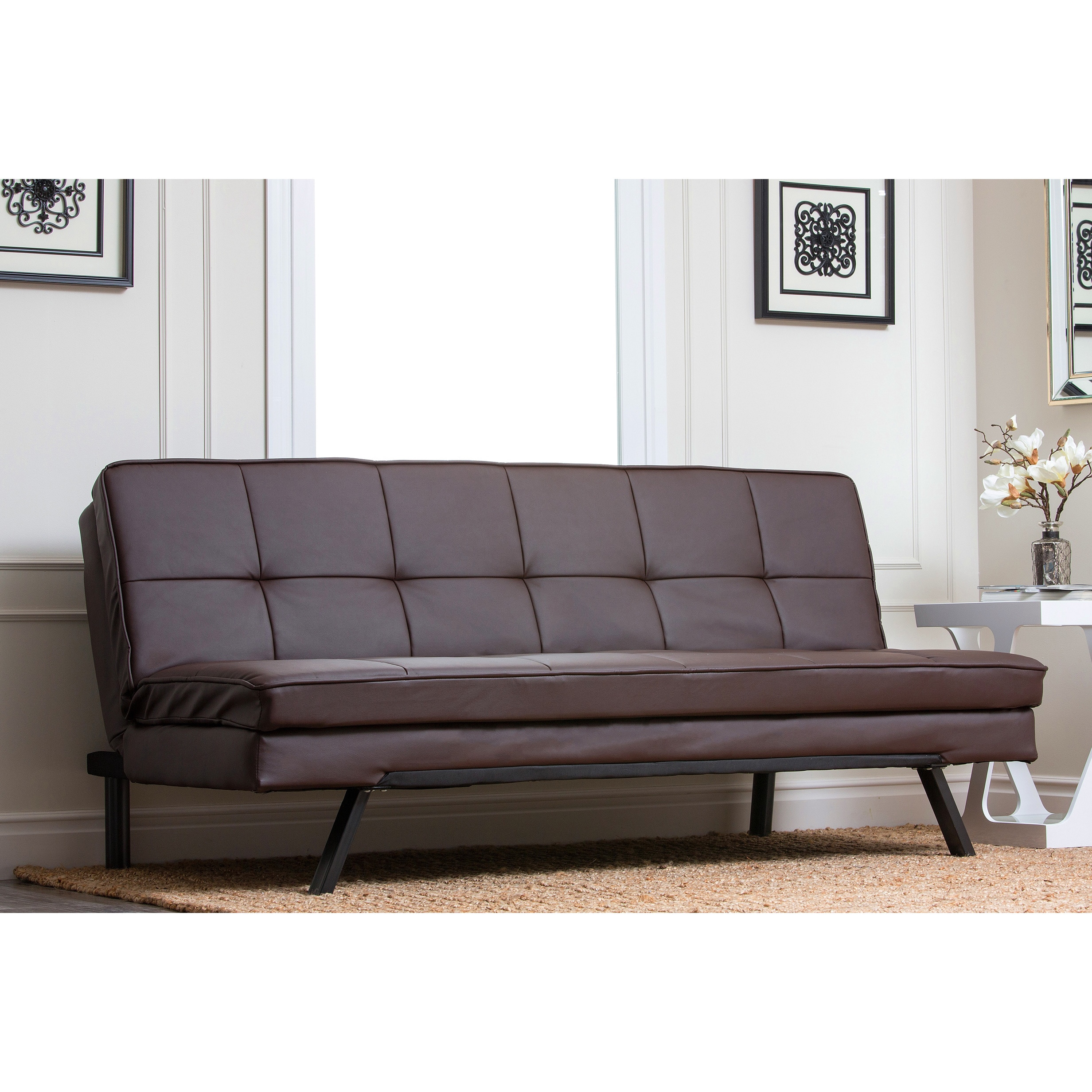 newport sofa convertible bed catnapper voyager reclining abbyson living double cushion