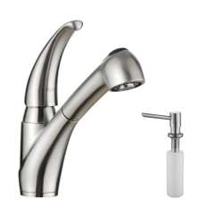 Kraus Kitchen Faucets Macys Aid Mixer Shop Single Handle Solid Stainless Steel Faucet With Pull Out Dual Function Sprayer