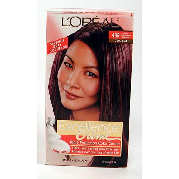 LOreal Excellence 4BR Dark Burgundy Brown Hair Color