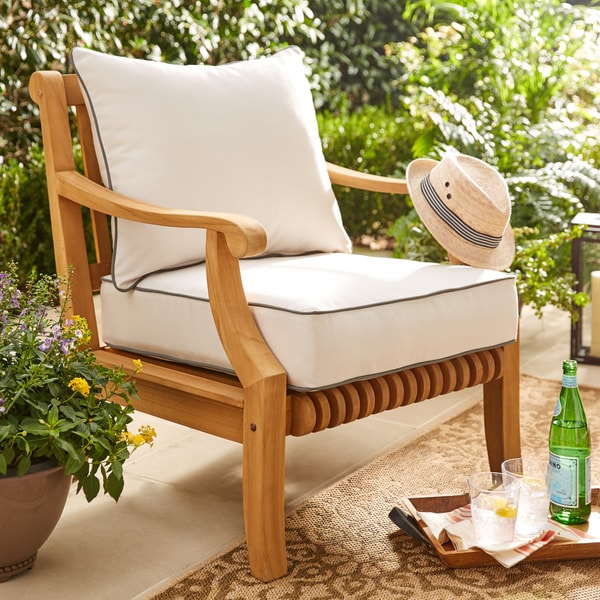 Shop Kokomo Teak Lounge Chair Free Shipping Today Overstock