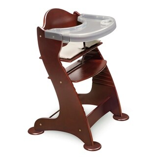 booster high chairs desk chair how to adjust seats find great feeding deals shopping at badger basket embassy wooden in cherry