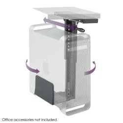 Safco Swivel Mount Under Desk CPU Holder Free Shipping