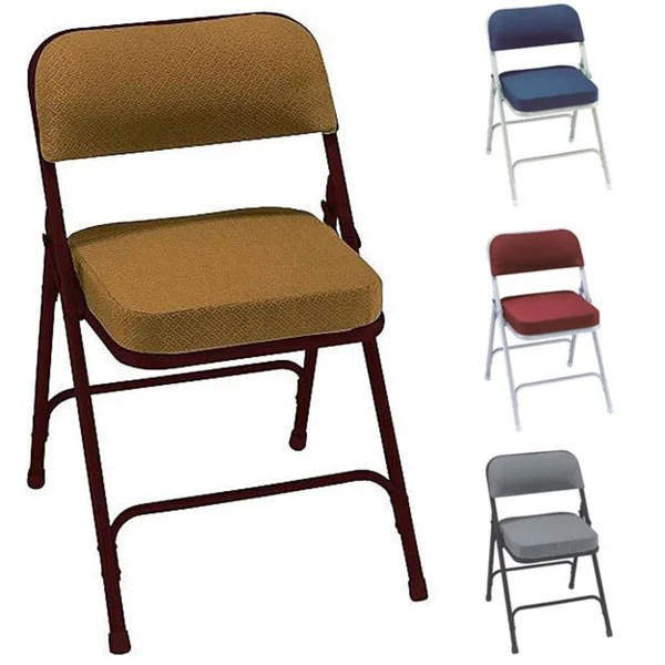 folding fabric chairs chair lift stairs indianapolis shop nps metal upholstered box seat set of 2 free shipping today overstock com 4662061