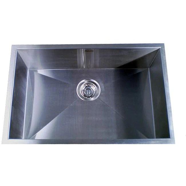 elkay kitchen sinks undermount wall units zero radius single bowl 28-inch sink - 12591731 ...