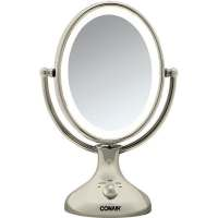 Conair Nickel Double Sided 1x 5x Lighted Makeup Mirror ...