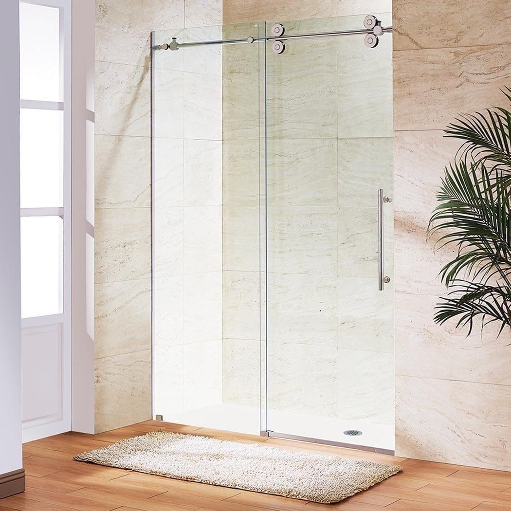 Vigo 72 Inch Frameless Sliding Glass Shower Door
