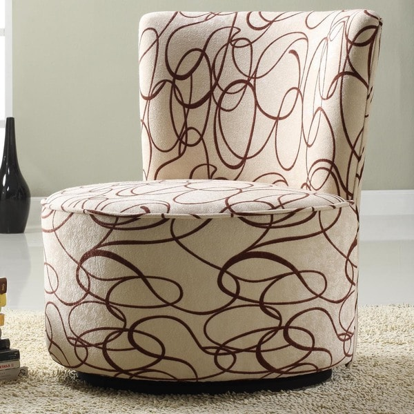 rialto black bonded leather chair hay about a aac22 replica tribecca home moda chocolate swirl print round swivel - free shipping today overstock ...