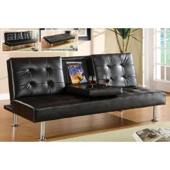 Contemporary Leather Sofa Bed Online Stores Uk Shop Furniture Of America Yorkville Modern Bicast Sofabed With Drop Down Tray Free Shipping Today Overstock Com 4766101