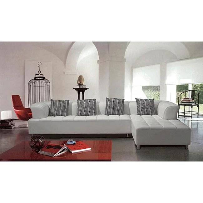 white leather sectional sofa with ottoman damask chair and covers shop marthena 2 piece free shipping today overstock com 4804203