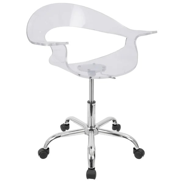 office chair overstock staples skate shop lumisource rumor clear acrylic on sale free