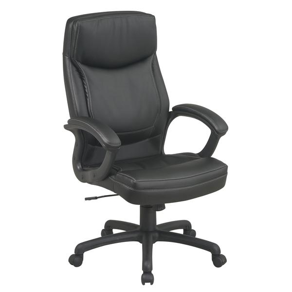 office star chairs chair under 100 progrid high back bonded eco leather with polished aluminum base free shipping today overstock com 12733156
