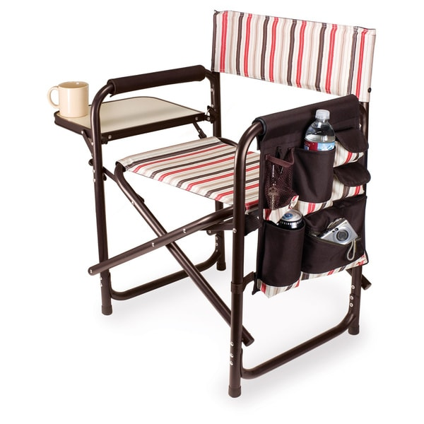 outdoor folding chair with side table poly adirondack chairs shop picnic time sports on sale