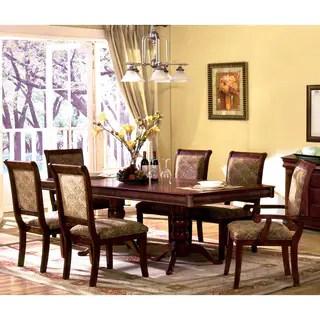 oak kitchen table sets bay window buy dining room online at overstock com our furniture of america ravena 7 piece cherry dinette set