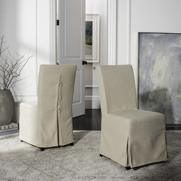 dining chairs slipcovers black armchair covers shop safavieh parsons slipcover set of 2 33 x 19