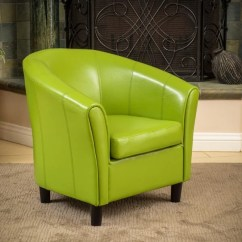 Lime Green Chairs For Sale Salon Chair Dimensions Shop Napoli Bonded Leather Club By Christopher Knight Home