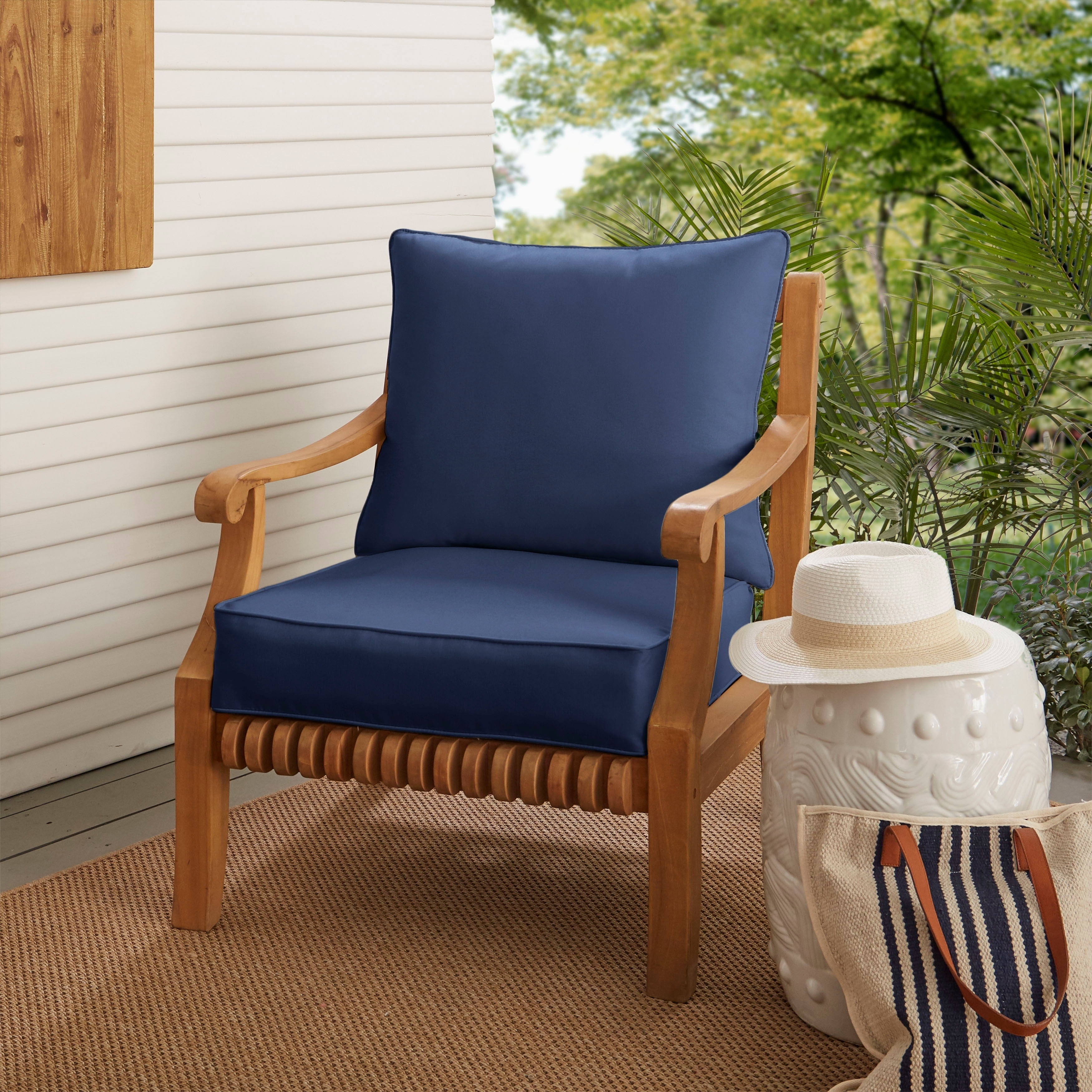 Patio Chair Replacement Cushions Buy Outdoor Cushions Pillows Online At Overstock Our Best