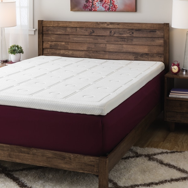 Swisslux Euro Extraordinaire 3 Inch Memory Foam Quilted Mattress Topper