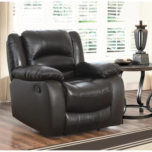 reclining armchairs living room images of modern rustic rooms shop abbyson brownstone top grain leather armchair on