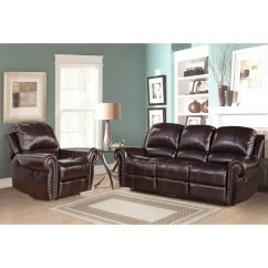 Tribecca Home Eland Black Bonded Leather Sofa Set Cama Tipo Juvenil Abbyson Living Broadway Premium Top-grain ...