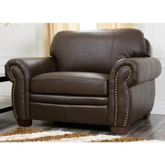 Oversized Living Room Chair Nightstand Abbyson Signature Italian Leather