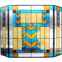 Shop Tiffany-style Mission Fireplace Screen - Free ...