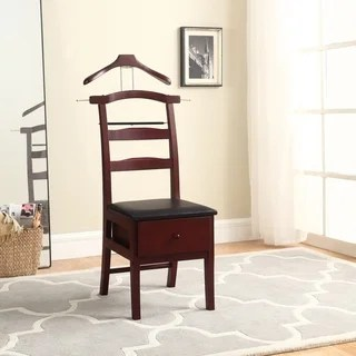 mens chair valet stand mat carpet buy stands online at overstock com our best laundry deals manchester mahogany finish