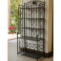 Metal Kitchen Shelf Corner Seating Buy Shelves Online At Overstock Com Our Best International Caravan Mandalay Iron 5 Tier Baker S Rack