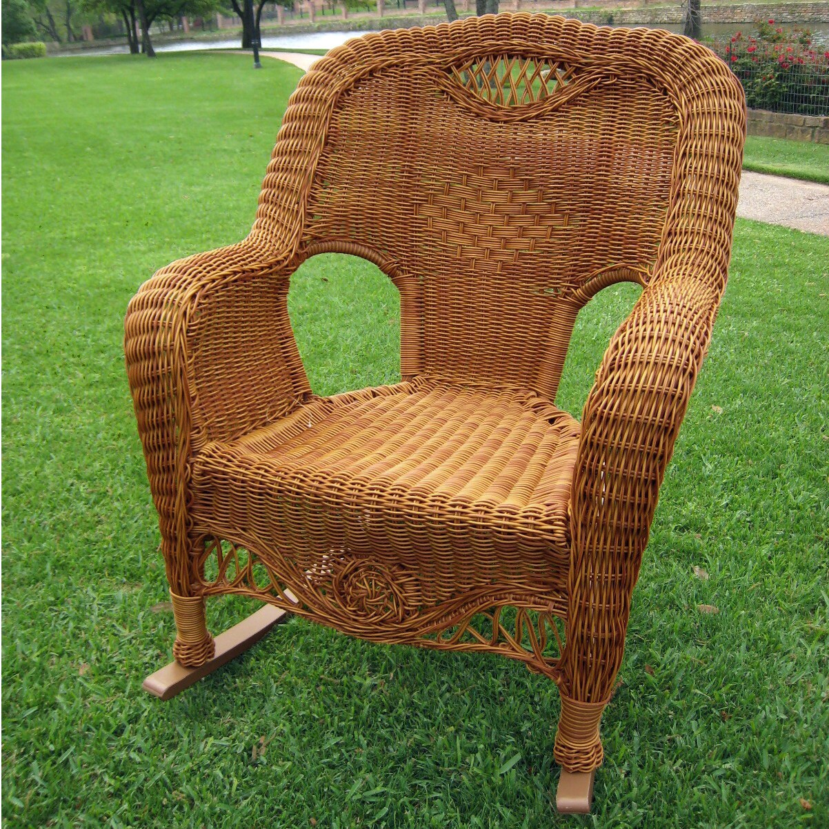 Indoor Wicker Rocking Chair International Caravan Resin Wicker Indoor Outdoor Rocker