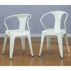White Dining Chairs Set Of 4 Swivel Reclining Uk Tabouret Stacking Overstock