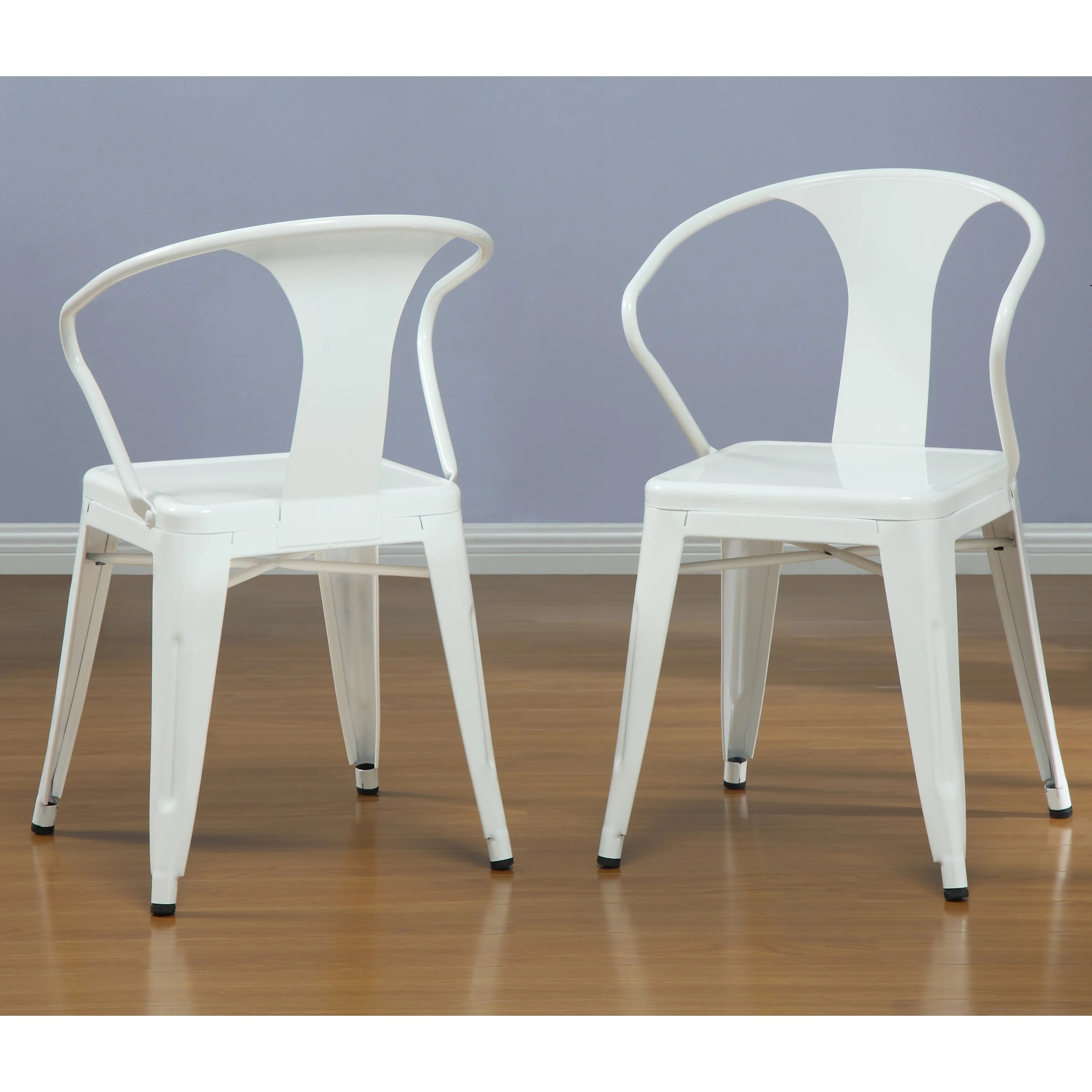 Stacking Dining Chairs White Tabouret Stacking Chairs Set Of 4 Overstock