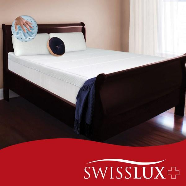 Swiss Lux 10 King Size European Style Memory Foam Mattress Bed