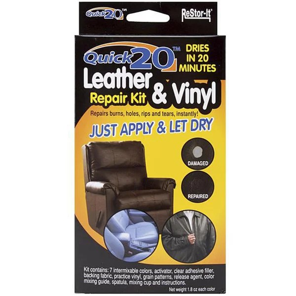 vinyl sofa repair support crossword clue shop as seen on tv re-stor it quick 20 leather and ...
