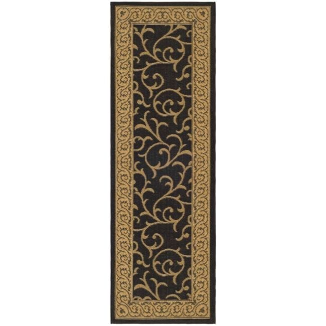 Safavieh Courtyard Scrollwork Black Natural Indoor