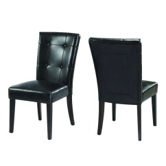Black Parsons Chair Rent Folding Chairs Shop Button Tufted Set Of 2 Free Shipping Thumbnail