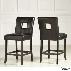 Counter Height Chairs Set Of 2 Revolving Chair In Olx Mendoza Keyhole High Back Stool