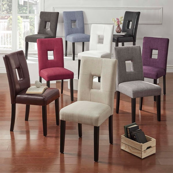 dining chairs overstock forest dental chair 3900 shop mendoza keyhole back set of 2 by inspire q bold