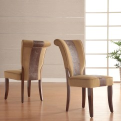 Faux Leather Dining Chairs Hanging Chair Rattan Tribecca Home Andorra Velvet And Alligator